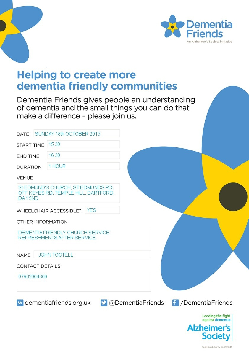 Dementia Friendly Service poster