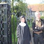 Rev Tony and Mother waiting to greet Anglican Walk